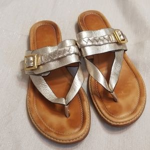 SPERRY💟Top-Sider Gold Cup Leather Braided Sandals